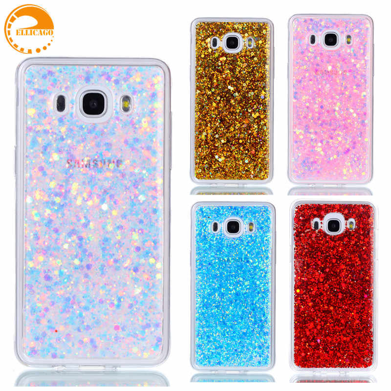 online store 20210 0bc45 Cover Case sFor coque Samsung Galaxy J5 2016 Case Luxury Bling Glitter  Shiny Soft TPU Cover for Samsung J5(6) J510 Phone Case