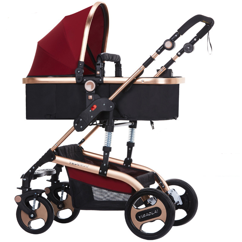 Bauhinia baby stroller high landscape can be sitting can be folded folding