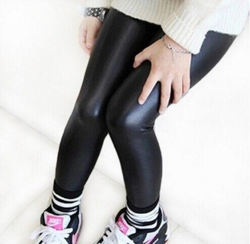 Offen Frühling Sommer Dünne Kind Kunstleder Hosen Mädchen Legging Baby Mädchen Hosen Kinder Leggings Mädchen Kinder Mode Legging Attraktives Aussehen