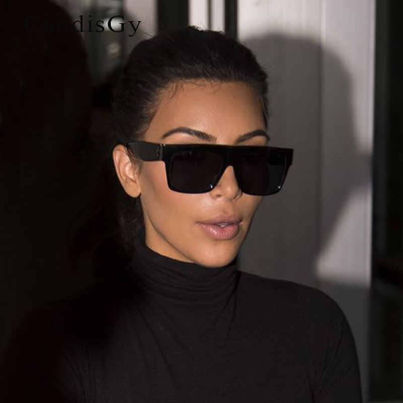43c9781d10 Fat Top Sunglasses Women Retro Luxury Brand Designer Kim Kardashian Shades  CL Sun Glasses for Men