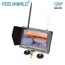 Feelworld FPV821 8 Inch FPV Monitor with Built in Battery Dual 5 8G 32CH Diversity Receiver