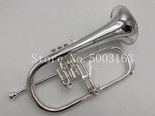 BULUKE High Quality flugelhorn sliver covered Bflat professional trumpet Top musical instruments in Brass trumpet horn