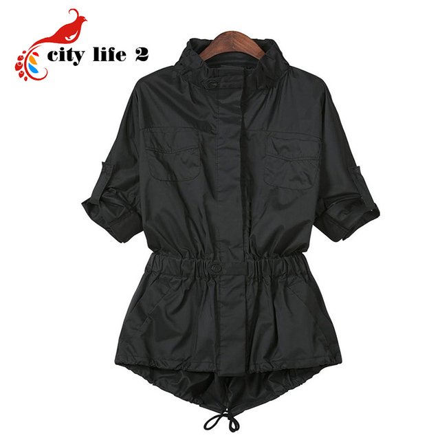 Women's Casual Medium-Long Trench Coat 2015 Spring And Autumn Slim Outerwear Long-Sleeve Fashion Female Black Windbreaker