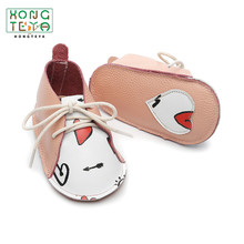 Shoes Baby Footwear Soft-Sole Firstwalkers Genuine-Leather Heart Pink Non-Slip Lace-Up