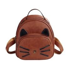 Милый Кот уха рюкзак черный элегантный дизайн школы Sacs à DOS для подростков Meninas в студенческом стиле Повседневная рюкзак мешок Mochilas распродажа