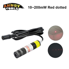 Focusable Dot Laser Rosso 648nm 650nm 10 mw 200 mw Laser Diode Modulo Locator Rosso Luci di Posizionamento del Dispositivo di Marcatura
