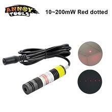 Z możliwością ustawiania ostrości Dot czerwony Laser 648nm 650nm 10 mw 200 mw moduł diody laserowej lokalizator czerwony ustawiania świateł w urządzenie do znakowania