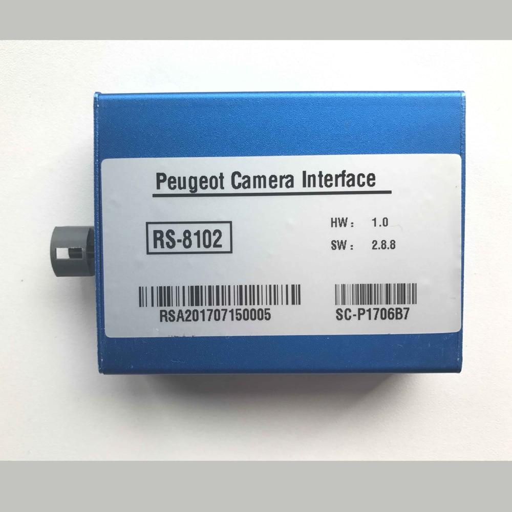 Tagumine kaamera ja eesmine kaamera liides Peugeot 2008 3008 208 308 408 508 Parkimisjuhised