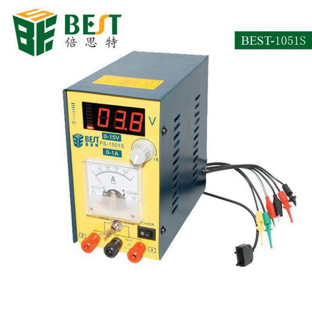 BEST 1501S DC Stabilized Power Supply 15v/1A DC PC phone repair ...