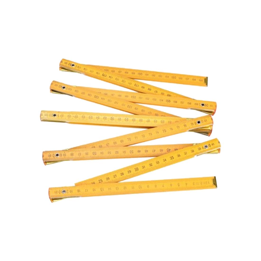 Portable Carpenter Wooden Folding Ruler 200cm/79inch