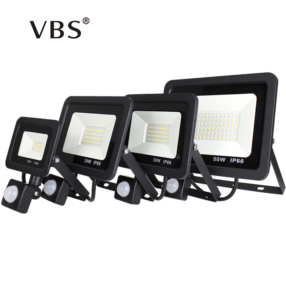 <font><b>LED</b></font> Flood Light Outdoor 10W <font><b>20W</b></font> 30W 50W IP66 <font><b>Led</b></font> <font><b>Floodlight</b></font> Spotlight with Motion Sensor 220V Waterproof Reflector <font><b>Led</b></font> Sensor image
