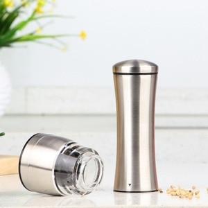 Image 2 - 2 pçs/lote Manual de Aço Inoxidável Moedor de Pimenta Moinho de Pimenta Sal de Cozinha Eco Ferramentas Moinho De Cozinha Cozinhar ferramentas de Moagem