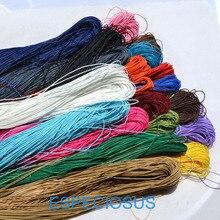 20 цветов 10 метров вощеный хлопковый шнур для бисероплетения 1 мм для плетения браслетов и ожерелий