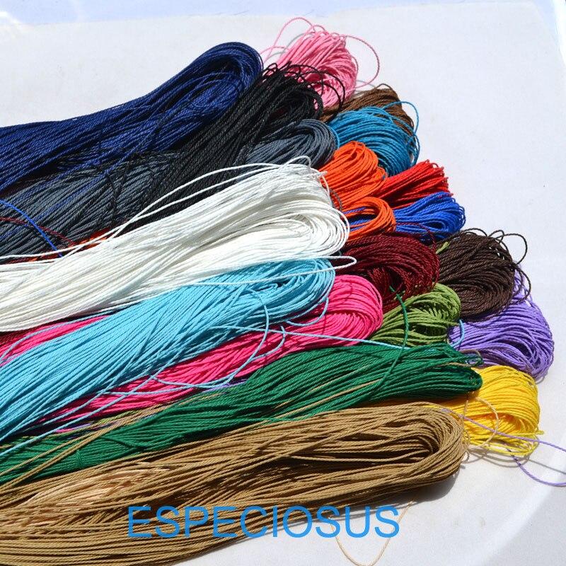 10 metres black waxed cotton cord 3 mm plaiting bracelet necklace knots lace W93
