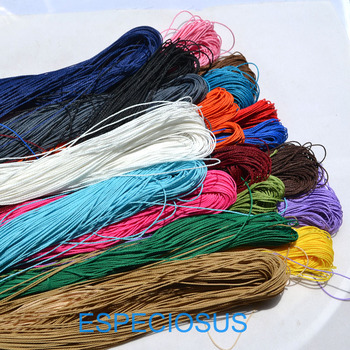 20 colors 10 meter Waxed Cotton String Beading Cord Rope 1mm For Bracelet And Necklace Making Weaving Departments - discount item  12% OFF Jewelry Making