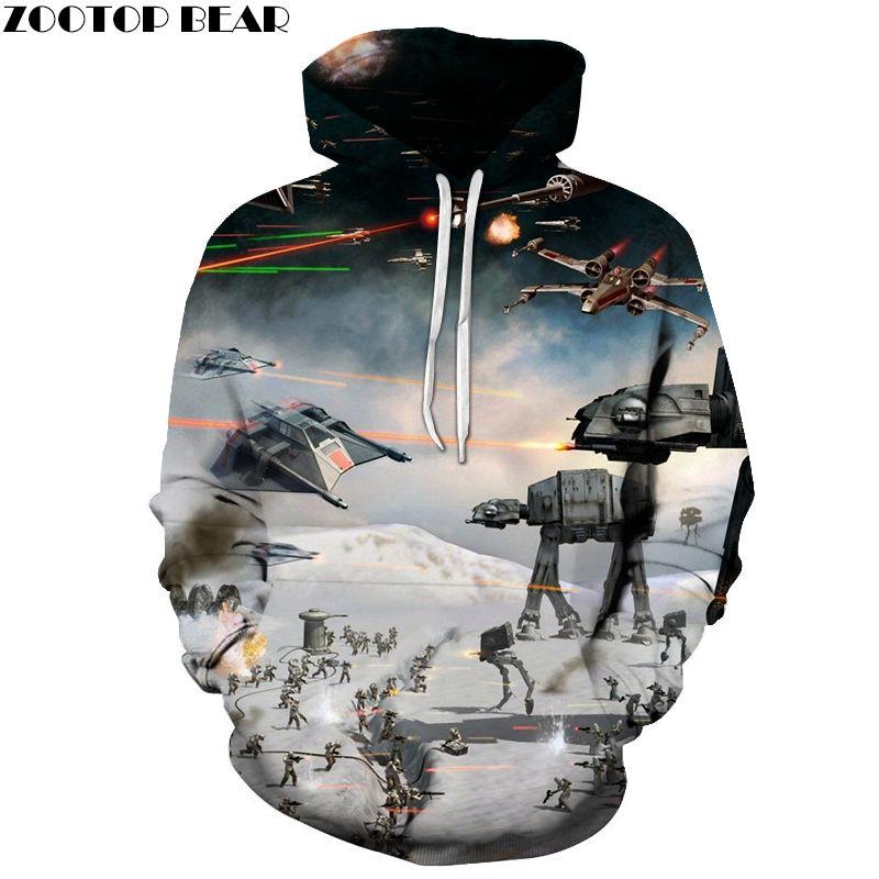 Smoke Star Wars Men's Hoodies Spring Anime Cotton Sweatshirts Tops Casual Tracksuits Long Sleeve Brand 3D Drop Ship ZOOTOP BEAR