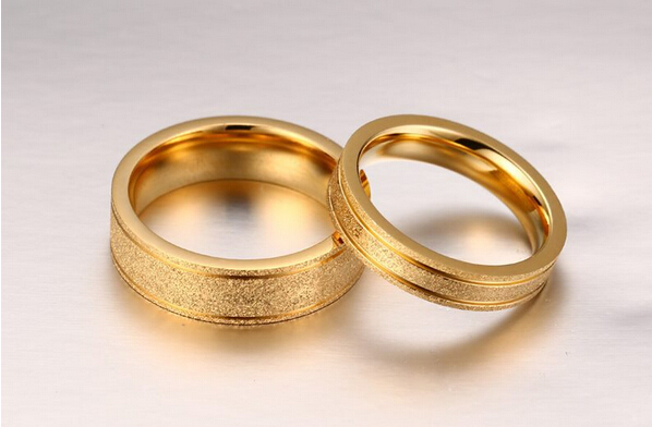 Gold Colors Couple Rings Hot Sale Simple Style Fashion Wedding Engagement Ring Women Men Anniversary Gifts Engagement Rings Women Wedding Engagement Ringengagement Ring Aliexpress