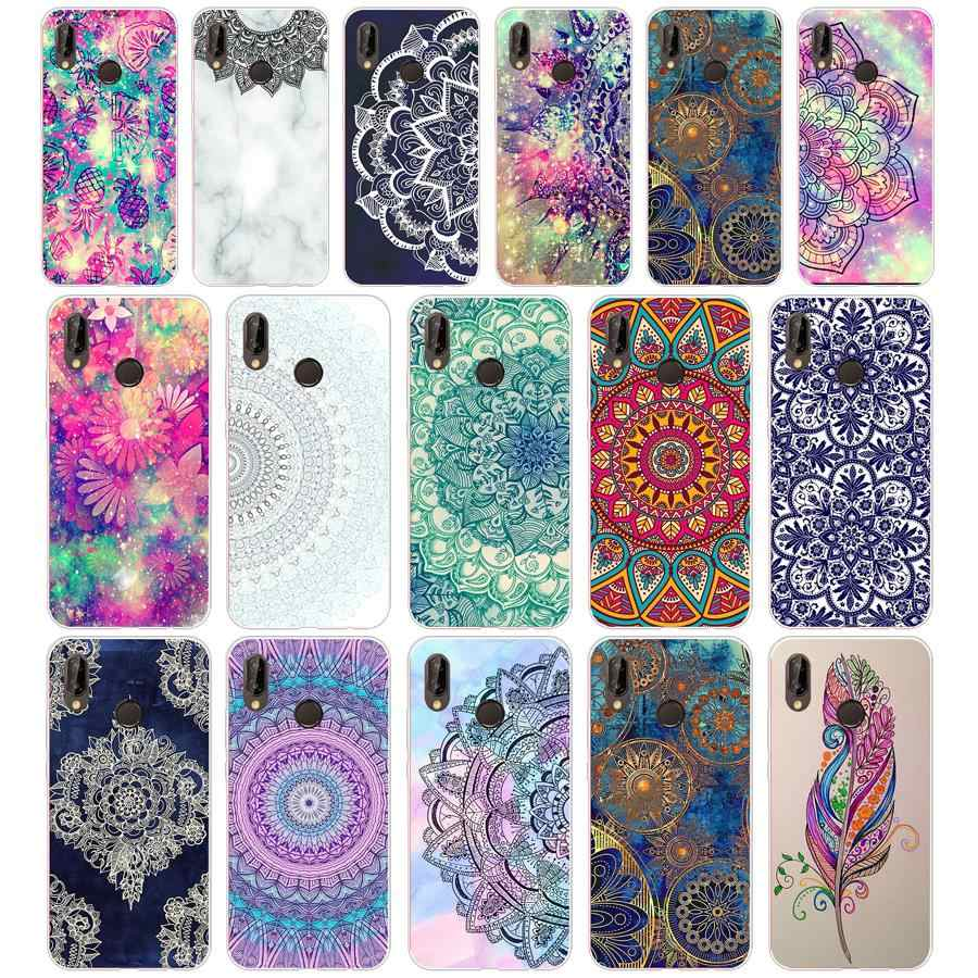 54G mandala pattern for Huawei P20 lite Case Cover Soft Silicone TPU Cover Back Protective Phone for huawei p20 lite case