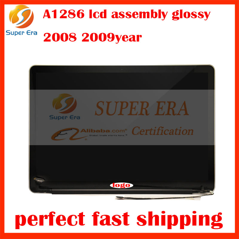 2008 2009 1440 x 900 glossy lcd assembly for macbook pro 15.4 A1286 lcd led display screen assembly completely fully tested
