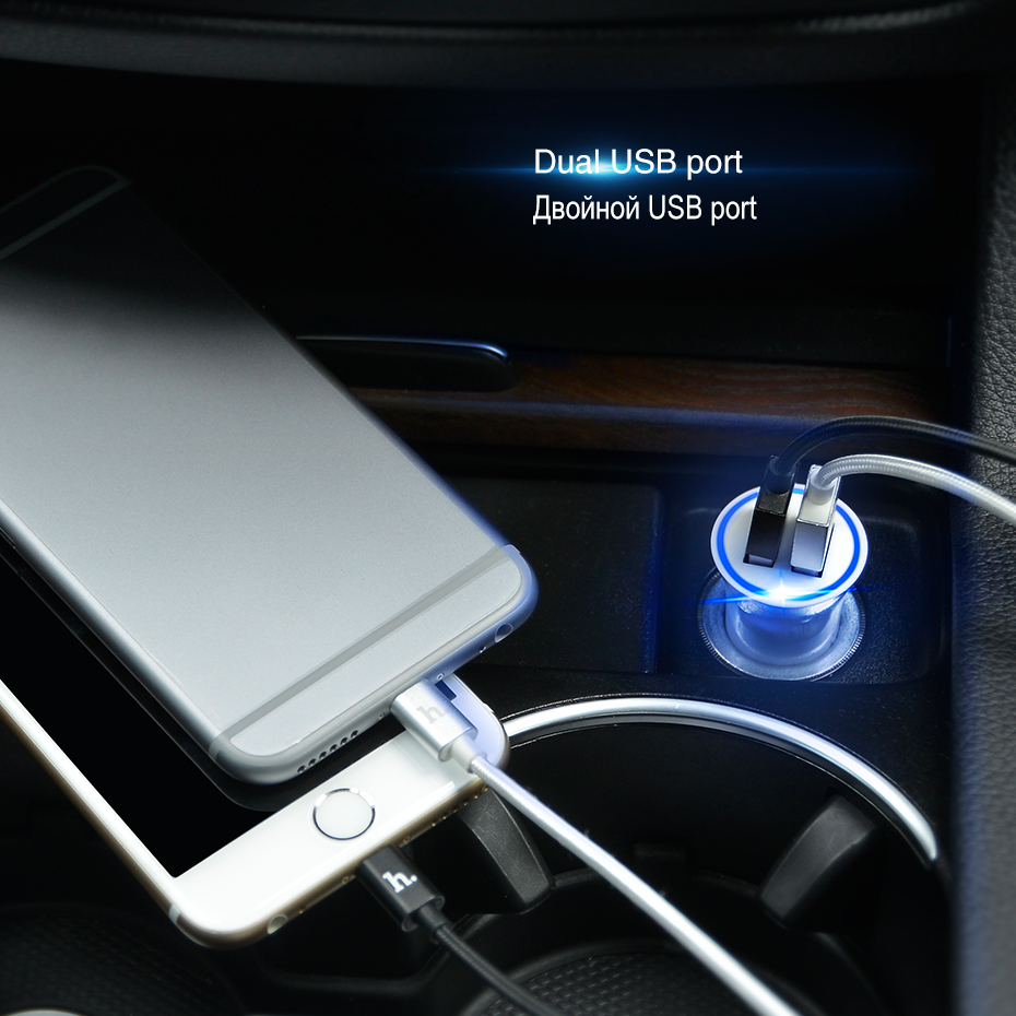 Best Offer #80d23 HOCO Car Charger Dual USB Port For