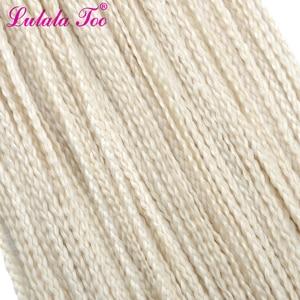 Image 4 - 30 box long longa caixa zizi sintético tranças crochê trança extensão do cabelo rosa escrever roxo colorido 28 raízes/pacote 45g lulalatoo