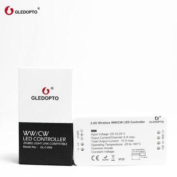 Prezzo Di Fabbrica Gledopto WW/CW Controllo Intelligente Zigbee Sistema Di Controllo Senza Fili Ha Condotto Il Regolatore Di Illuminazione 12 V-24 V Rgb Interruttore Dimmer LED
