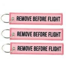 Брелок для ключей, модный брелок для автомобилей, мотоциклов, вышивка, розовый брелок для ключей, брелок для удаления до полета, розовый брел...