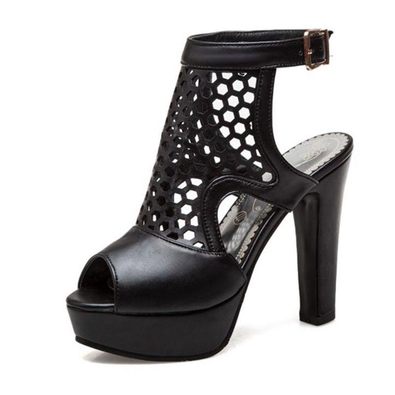 Blxqpyt пикантные модные летние сандалии женские большие размеры 34 50 свадебные туфли на высоком каблуке вечерние женская обувь Туфли лодочки н... - 2
