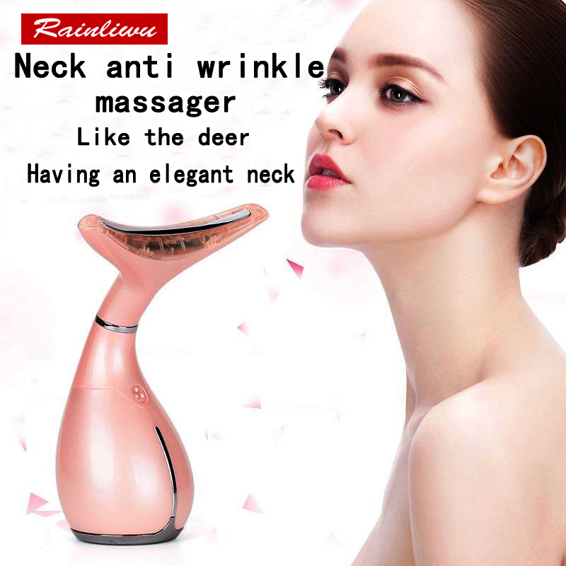 Anti wrinkle Neck protect instrument Dilute wrinkles Neck care Cold hot lead-in instrument Skin Tighten Massage beauty apparatus led neck massager vibration therapy neck skin care tighten anti ageing wrinkles skin lifting beauty machine massage device l3