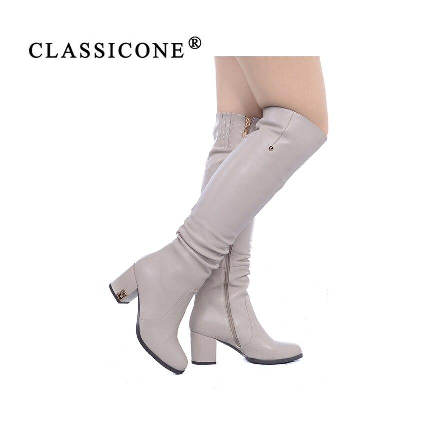 En Hauts Bottes Femmes De Du À Véritable Mode Chaussures Luxe Marque Style Femme Cuir Classicone Talons Automne Hauteur Longues Genou Beige Sexy Pompes Printemps wq6pq7