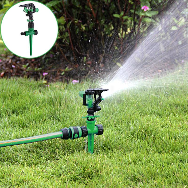 Adjustable 360 Degree Rotating Watering Sprinkler Mist Nozzle Hoses Garden Sprinkler Lawn Irrigation Drip Irrigation Garden Tool