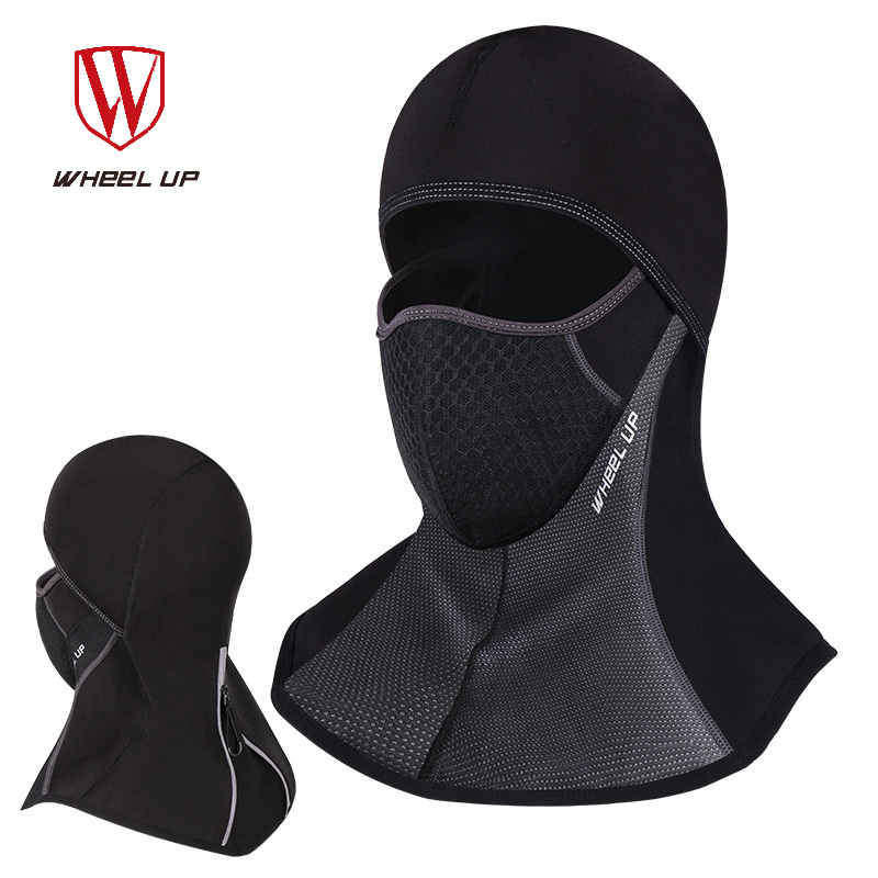 WHEEL UP Fleece Windproof Warm Cycling Cap Winter Bike Caps Face Mask Balaclava Thermal Bicycle Cycling Equipment outdoor sports winter thermal fleece warm ski hat earmuffs cycling cap windproof hiking riding snow cap men women knitted hat