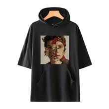 BTS Shawn Mendes Youtu Harajuku manga corta Hoodies mujeres hombres Fans  ropa 2018 Hip Hop 5bf28d0d6fc