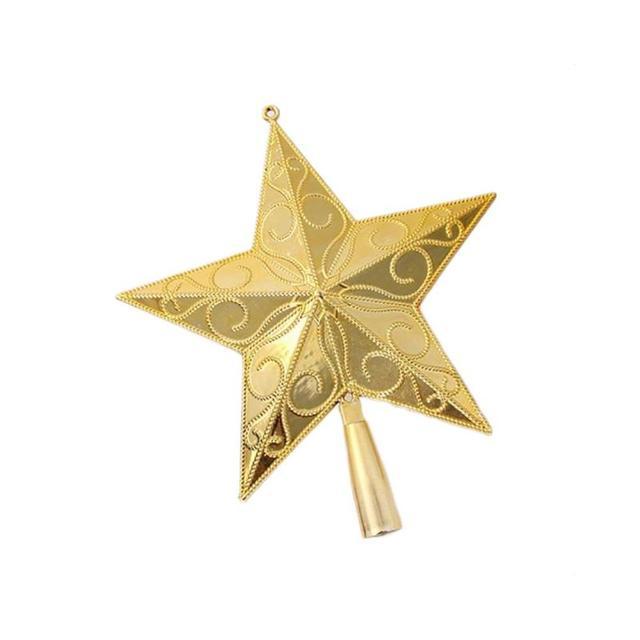 Stern Auf Weihnachtsbaum.Schätze Gold Glitzerten Stern Weihnachten Baum Topper Drei Größen
