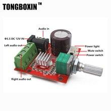 DC12V Classe D Amplificateur Audio Conseil Amplificateur Deux PAM8610 Puces 2*10 W Double-Canal Numérique Stéréo livraison gratuite