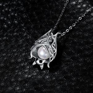 Image 3 - Jpalaceバット作成された真珠のペンダントネックレス925スターリングシルバー宝石用原石チョーカーステートメントネックレス女性チェーンなし
