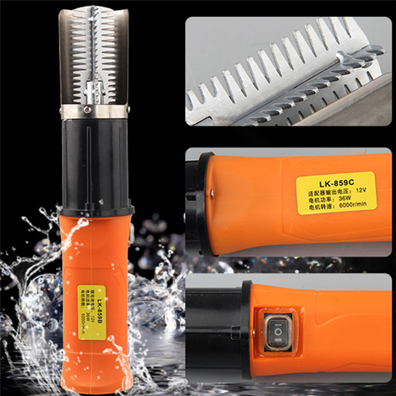 Useful Electric Fish Scaler Fishing Scalers Clean Fish Remover Cleaner Descaler Waterproof Scraper Seafood Tools EU