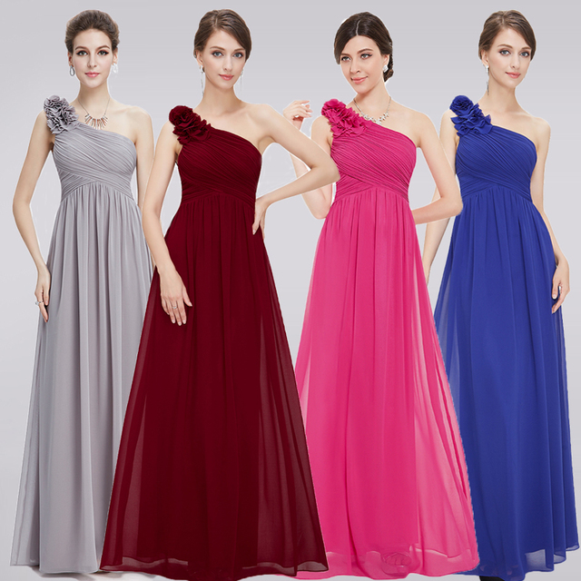 d44b5b0a31665 Plus Size Burgundy Bridesmaid Dresses Long 2018 A-line Sleeveless Chiffon  One-shoulder Simple Wedding Party Dresses for Women