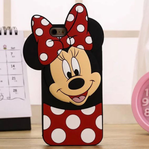 3D Cartoon Minnie Mouse Mickey Soft Silicone Phone Case Back Cover Skin Shell For Apple iPhone Samsung Mobile Phones