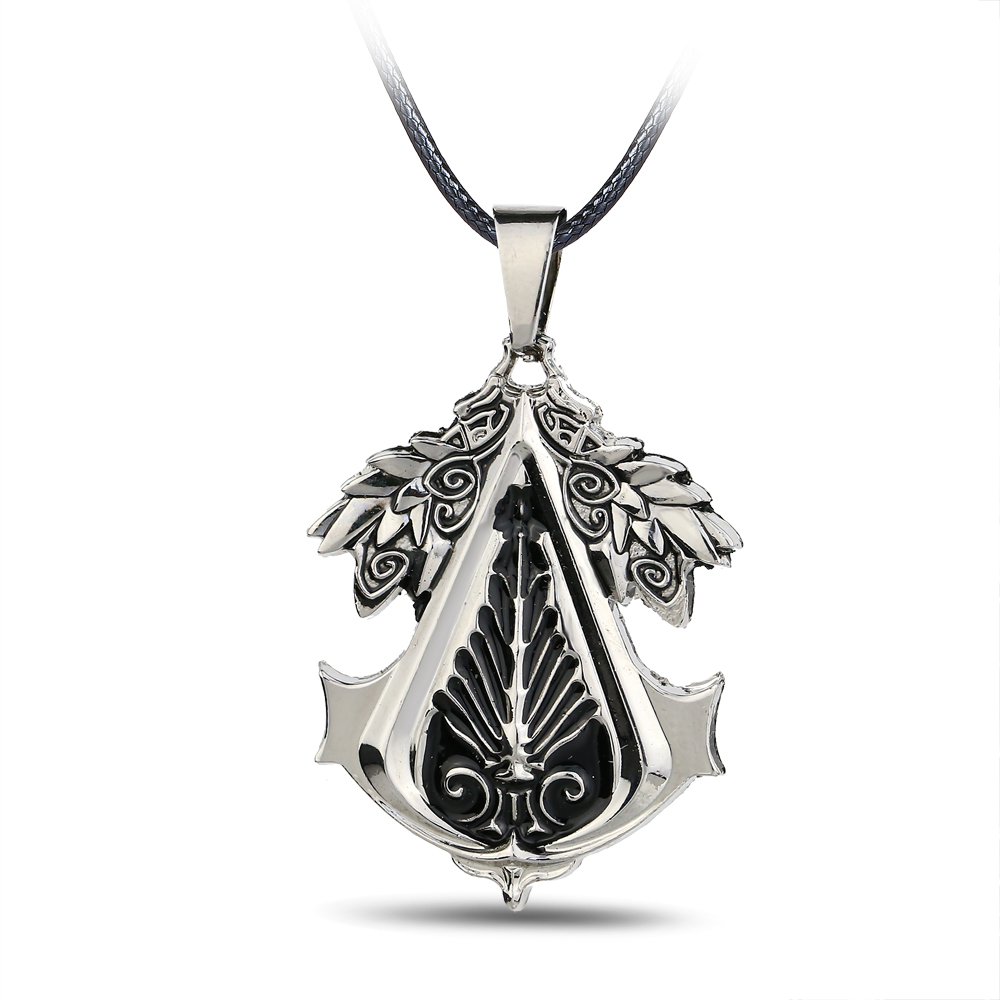 New Arrival Statement Necklaces Assassins Creed Phoenix Necklace Ezio Deiss Mond Rope Chain Pendant Necklace Game Accessory