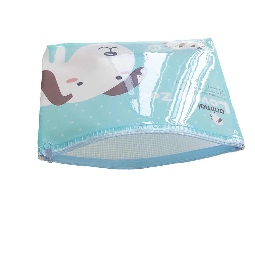 1pcs Cartoon cute animal  A5 documents File Bag  mesh bag stationery Filing Production