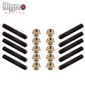DYNO RACING - 1set=10pcs BLACK HEAD STUDS FOR EXHAUST/INTAKE MANIFOLD WITH LOCKING HEX NUTS FOR ACURA/HONDA