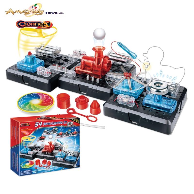 Montessori Éducatifs Toys pour enfants 54 super scientifique ensemble Physique Sciences Jouet d'apprentissage machines enfants éducatifs comprimés