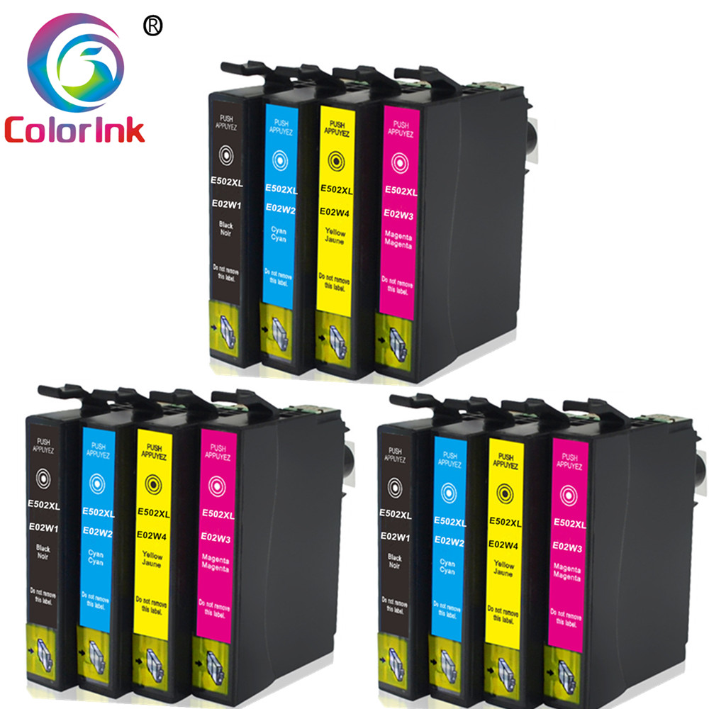 ColoInk Ink For Epson 502XL T502XL 502 Ink Cartridge For Epson Expression Home XP-5100 5105 2860DWF 2865D Print