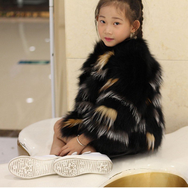 JKP 2018 winter real fox skin fur children coat fox fur family wear baby coat girl fur jacket fashion coat new ZPC-157