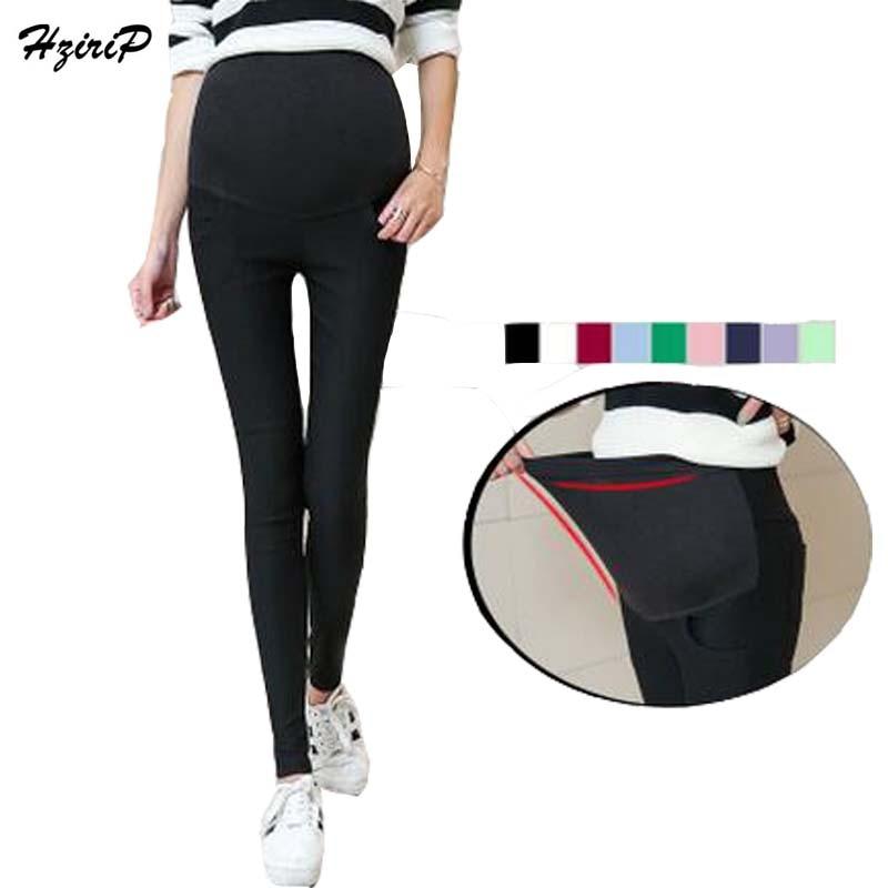 Hzirip M-XXL शरद ऋतु वसंत उच्च कमर मातृत्व पैंट पेंसिल पैंट लेगिंग देखभाल पेट की पतलून गर्भवती महिलाओं के कपड़े