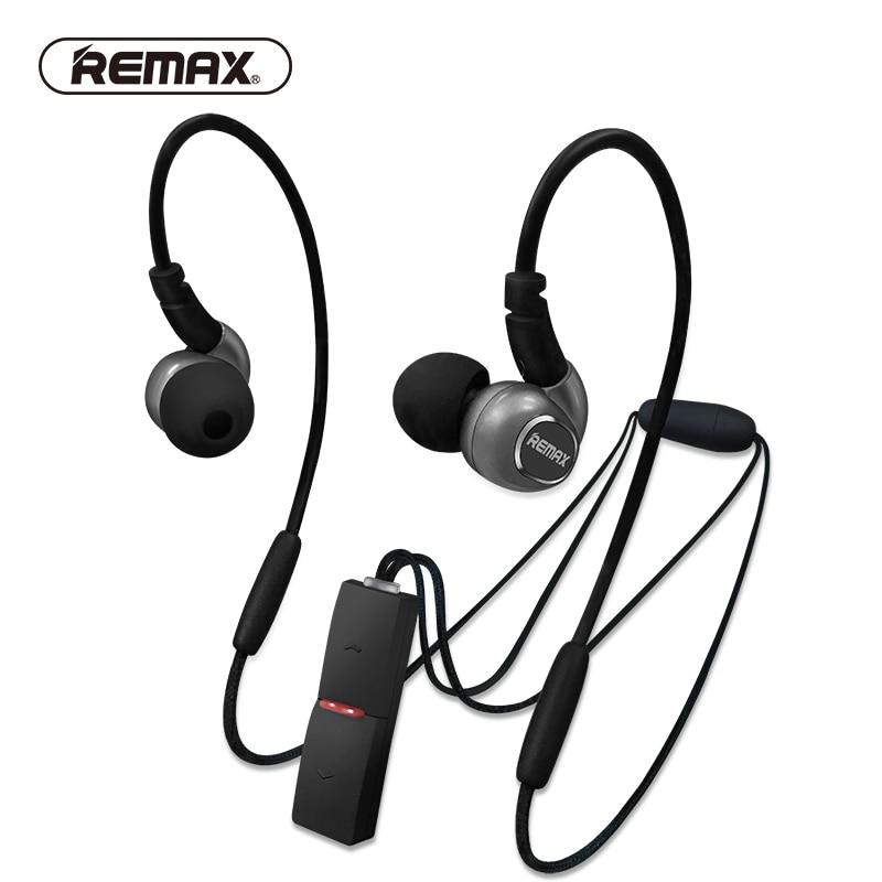 REMAX Neckband Sport Bluetooth 4 1 Tech Earphones Magnet Stereo Heavy Bass Running Headphone Pendant Control