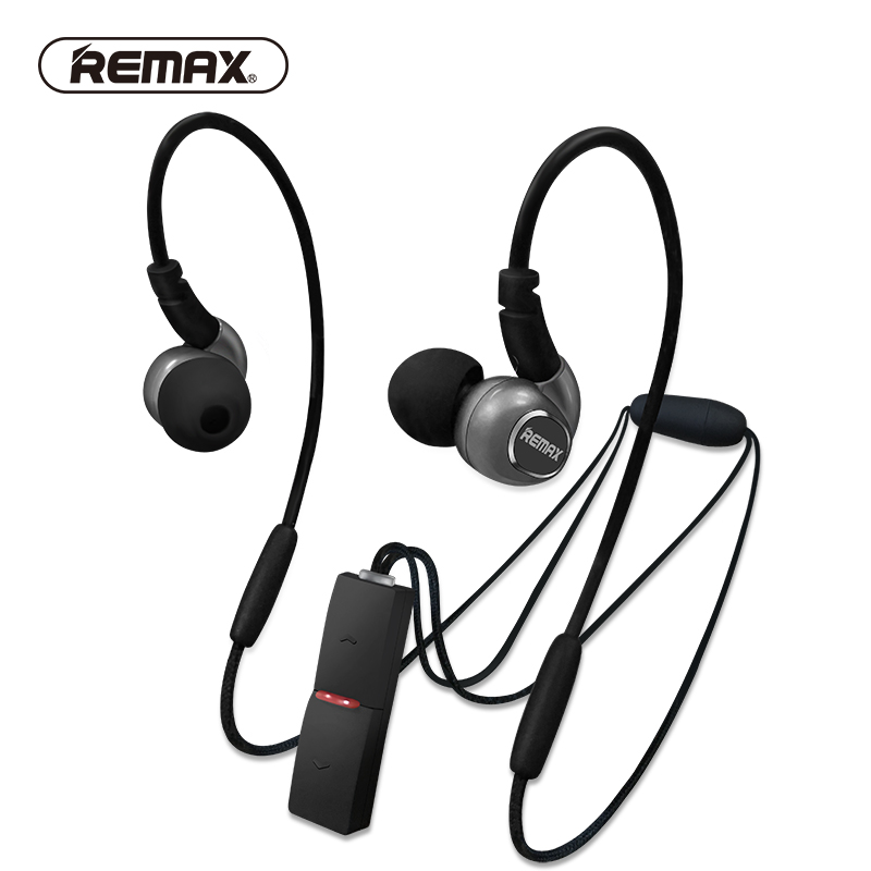 REMAX Neckband Apt-x Sport Bluetooth 4.1 Tech Earphones Magnet Stereo Heavy Bass Running Headphone Pendant with Mic for iphone