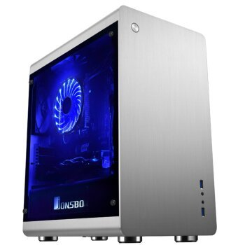 RM3 all aluminum M-ATX chassis silver double side tempered glass large side through