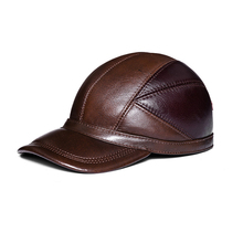 2017 genuine leather Baseball Caps AutumnWinter Letter Black Men Hats Brand New Hat Large Size 58 59 60cm Free Shipping